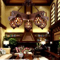 bedroom style ideas - Wrought Iron Art American Restaurant Chinese style Retro Bar Counter Ideas Of Living Room Hanging Lamp PL062