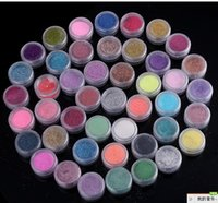 Wholesale High Quailty Colors Shine Nail Glitter Powder Nail Art Fine Dust Set