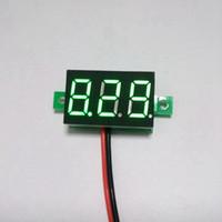 battery wire gauge - 5 Car Motorcycle Battery Monitor DC V Wire Green LED Digital Motor Voltmeter DC Voltage Volt Panel Meter Gauge