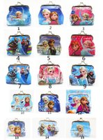 Wholesale 1000x Girls D Cartoon Frozen Coin Purse with Iron Button Anna Elsa Olaf Shell Bag Wallet Purses Children Child Gifts