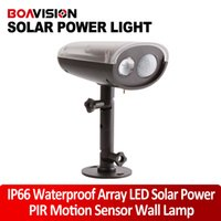 Cheap IP66 Waterproof Array LED Solar Power 3W 250LM Infrared 5m PIR Motion Sensor Panel Induction Lamp Outdoor Street Garden Wall Lantern Light