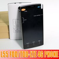 Wholesale L55 phone G LTE Phone inch IPS MTK6582m MT6290 Quad Core ghz Android GB RAM GB ROM FDD TDD LTE MP GPS waitingyou