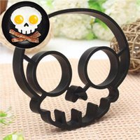 Wholesale new Cooked Fried egg Skull owl shaper silicone moulds egg ring silicone mold cooking tools christmas supplies Fried Egg Mold Pancake