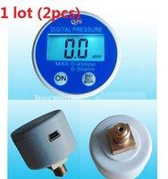 Wholesale Gauge Build in Battery RS232 USB VDC Digital Display Pressure Gauge Manometer G1 atm Brass Port