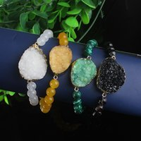 Wholesale multicolor Drusy Agate Stone Connector Druzy Bracelets Jewelry Gift