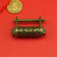 Wholesale Retro Vintage Chinese Old Style Antique Carved Word Password Padlock Locks Key