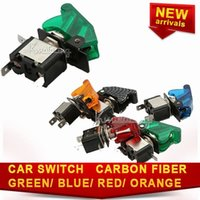 Cheap Car Switch Illuminated Flip up Car Switch Modified Kit Safety Cool Panels Racing Ignition Start Toggle Electronics free shipping