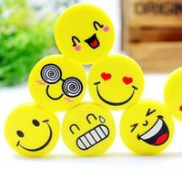 >6 years old emoji Fantastic New Cute smiling face eraser QQ emoji eraser smile lovely eraser funny face eraser smile style rubber Kids gift creative stationery