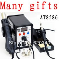 Wholesale ATTEN AT8586 in Hot Air Soldering Station SMD Hot air rework station Digital Display order lt no track