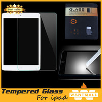 Wholesale 0 mm H HD Tempered Toughened Glass Film Screen Protector For iPad ipad mini Ipad air