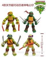 Wholesale TMNT teenage mutant ninja turtles kids toys set toy doll model DHL Movable pvc set of Best Gift action figures