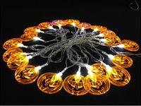 Желтый 20 Тыкв светодиодный свет строки СИД 4м длинной Хэллоуин дом Декор света СИД Бесплатная доставка