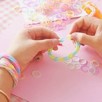 Cheap Rubber Loom Band Set Candy Colorful Loom Bands Children DIY Bracelet Opp Bag Colorful Loom Kit LOOM BAND Novelty GamesS