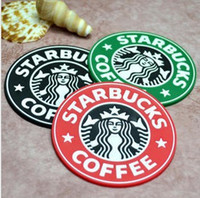 best drink coasters - Starbucks Silicone Cup Mat Insulation Record Drinks Coaster Pad Mermaid Placemat Cup Cushion best quality free ship
