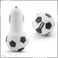 best portable usb charger - Best Selling World Cup football car charger ball shape Portable usb car charger For tablet and Smart Phone with without retail box churchill