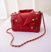 leather shirt - 2015 Personalized Designer Handbags T Shirt Female Chain Bag Fashion Crossbody Rivet Shoulder Bags for Women Brand Leather Moshino Bag bolsa