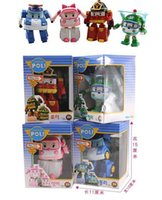 Wholesale 4 lotHigh Quality Robocar poli deformation car bubble South Korea Thomas toys models mix robocar poli