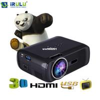 Wholesale iRULU BL projector Resolution Lumens Brightness HD D LED Projector Home Cinema Theater VGA USB SD AV HDMI