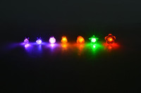 Wholesale Plum Flower LED earring Carnival Night Led Light Up Earrings Multi Color for Party Disco