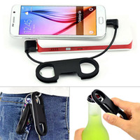 Wholesale New Style Keychain Mini Micro USB Data Cable for Samsung Android Phones with Wine Opener Funcation