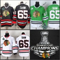 Wholesale New blackhawks andrew shaw red white black green with stanley cup champions patch hockey jerseys ice winter jersey accept mix order