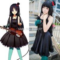 mio - K ON Akiyama Mio Black Tee Cocktail Dress Uniform Outfit Anime Cosplay Costumes