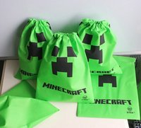 Wholesale Minecraft Creeper JJ Blame backpacks Minecraft drawstring bags Minecraft Supplies handbag