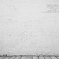 Wholesale Photo Studio Equipment Thin Vinyl Photography Backdrop White Brick Wall Floor Photo Studio Background New Arrival x8ft QD10