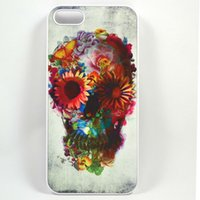 sugar white sugar - Unique Floral Sugar Skull Hard Plastic Back Phone Carrying Case Cover For IPhone S S C Plus