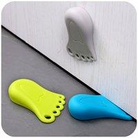 Wholesale pack of creative foot shape Baby Helper Door Stop Finger Pinch Guard Lock