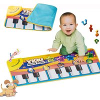 Wholesale Multifunction Baby Play Crawling Mat Touch Type Electronic Piano Music Game Mats Animal Sounds Sings Toys for Kids Gift order lt no track