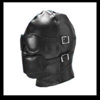 Wholesale New Bondage PVC Gimp Mask Hood Blindfold Fetish Bondage Sex Headgear Leather Hoods SM001