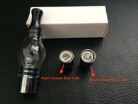 anti wax - Dual Wax Coil Glass Globe Atomizer Clearomizer Glass Globe Tank Anti oxidation for eGo e cig Evod Kgo Twist ego vv3 Electronic Cigarette
