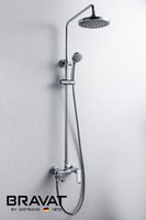 Wholesale Bath Faucet With Slide Bar Polished Chrome Wall Mounted Shower Faucet