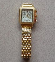 michele watch - Diamond Signature Deco Mother Of Pearl Dial wristwatch michele deco Gold watch Polished Golden Stainless Steel