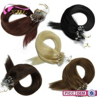Wholesale Different Color Mirco Ring Human Hair Extension Length Inch Straight Human Hair g DHL Shipping XBLHair