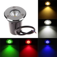 Wholesale Stainless Steel Incandescent Bulbs Buried Lamp LED Underground Lamp W Red AC85 V