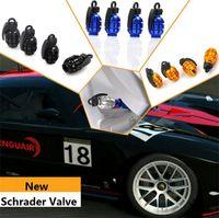 auto bike parts - New Schrader valve Aluminum Grenade Design Car Motorcycle Bike Tire Tyre Valve Dust Caps Colors top sale Auto Parts