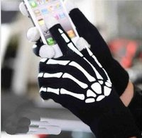 Wholesale Halloween Knitted Touch Screen Texting Gloves Winter Warm Luminous Gloves For Iphone Ipad Style Choose EIC