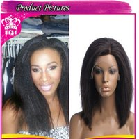 kinky straight full lace wigs - 6a malaysian human hair kinky straight lace front wig unprocessed kinky straight full lace wigs bleached knots for black women