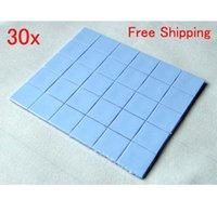 Wholesale 30x mm mm mm Thermal Pad GPU CPU IC Heatsink Cooling Conductive Silicone BlueZ00155
