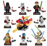 Wholesale Star Wars the Force Awakens Darth Vader Obiwan Han Solo General Grievous Stormtrooper Minifigures Clone wars Building Blocks