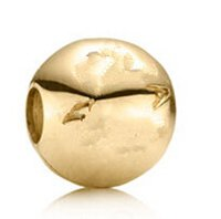 gold pan - 14k Gold Pan Logo Charm with Clear Cubic Zirconia Original Sterling Silver Charms DIY Jewelry AC3444