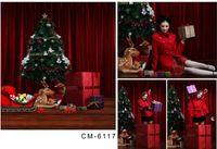 Wholesale Custom X7FT Vintage Christmas Tree For Festival Familiy Photos Background Studio Photography Backdrop Fabric Backgrounds