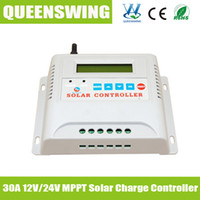 Wholesale 30A V V LCD Solar Cell Panel Battery Charge Controller Solar Controller with mppt function for solar system lamp home solar QWM A