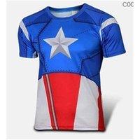 american captain costume - summer NEW The Avengers Spider man Cycling Costume Captain American Cycling T shirt Superman Running sport T shirt batman cycling jersey