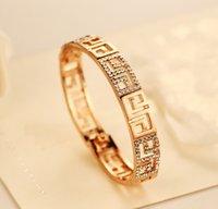 austrian crystal bangles - 18K Gold Plated Franc Bracelet Rome Style Austrian Crystal G Design Lady Jewelry Fashion Money Bracelets J280