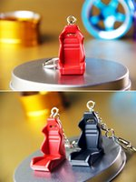 belly parts - Car Auto Parts Key chain Metal Racing Seat Keychain Modified race car seat Key Ring Pendant Man Belly strap