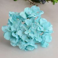 brand new silk flower heads - 50Pcs Dia cm quot Colors Artificial Simulation Silk Hydrangea Flower Head for DIY Bride Bridesmaids Wrist Flowers Photograph Props