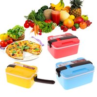 baby spoon case - New Baby Lunch Box Picnic Food Container Spoon Storage Layer Microwave Handle Bento Cute Cartoon case